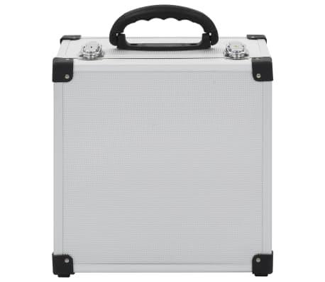 vidaXL Kompaktinių diskų dėklas 40 diskų, sidbr. sp., aliuminis, ABS[7/8]