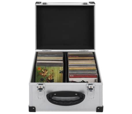 vidaXL Kompaktinių diskų dėklas 40 diskų, sidbr. sp., aliuminis, ABS[1/8]