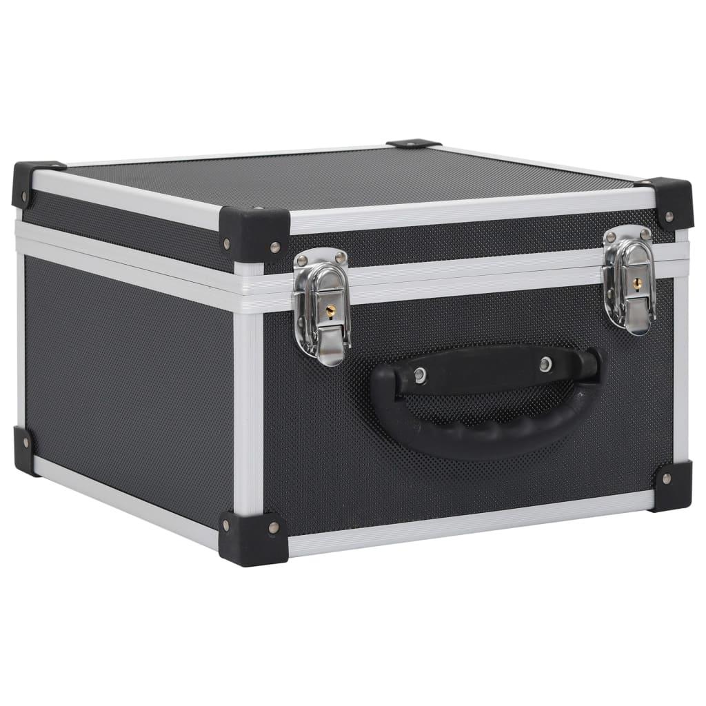 Afbeelding van vidaXL Cd-koffer voor 40 cd's aluminium ABS zwart