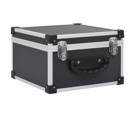 vidaXL CD-väska för 40 cd-skivor aluminium ABS svart
