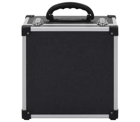 vidaXL Kompaktinių diskų dėklas 40 diskų, juod. sp., aliuminis, ABS[7/8]