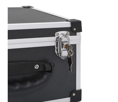 vidaXL Kompaktinių diskų dėklas 40 diskų, juod. sp., aliuminis, ABS[8/8]