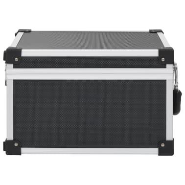vidaXL Kompaktinių diskų dėklas 40 diskų, juod. sp., aliuminis, ABS[4/8]