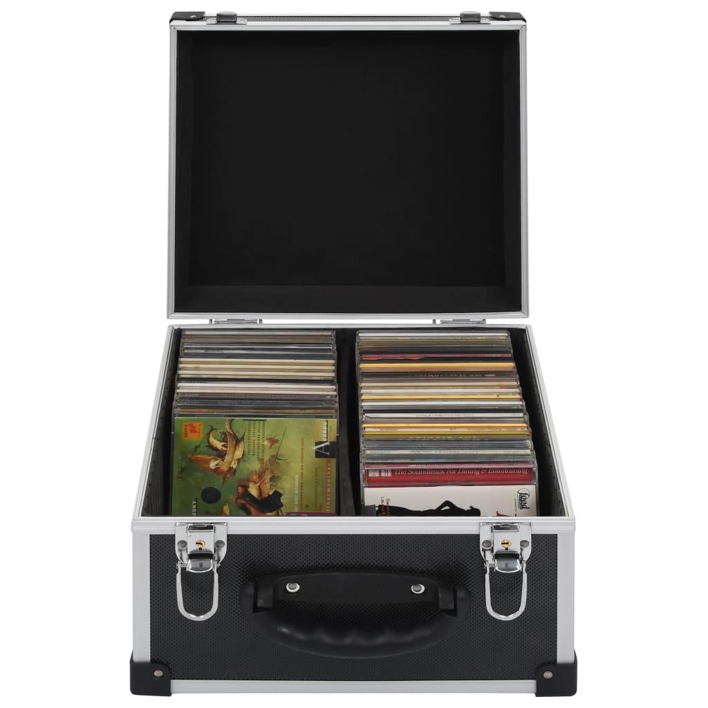Kufr na CD na 40 CD hliník ABS černý