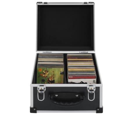 vidaXL Kompaktinių diskų dėklas 40 diskų, juod. sp., aliuminis, ABS[1/8]