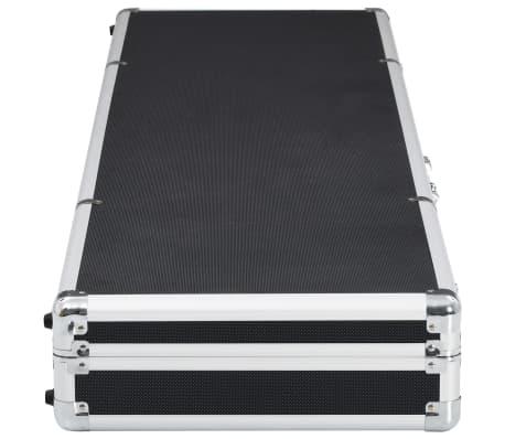 vidaXL fekete alumínium fegyvertáska 134 x 35 x 12 cm[3/9]