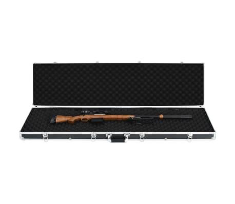 vidaXL fekete alumínium fegyvertáska 134 x 35 x 12 cm[5/9]