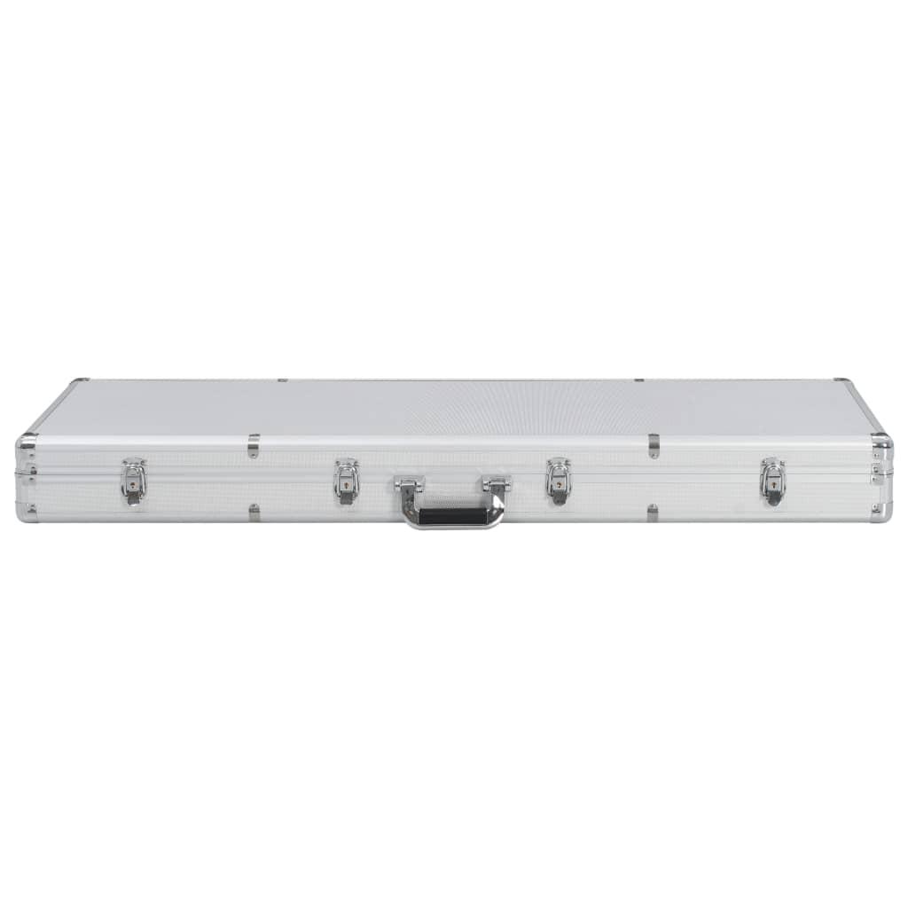 Relvakohver, hõbedane, 118 x 38 x 12 cm, alumiinium
