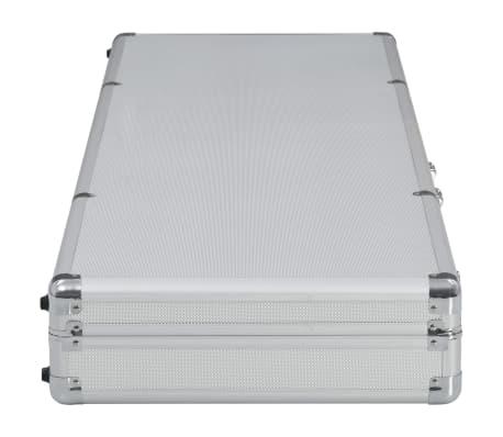 vidaXL ezüstszínű alumínium fegyvertáska 118 x 38 x 12 cm[3/9]