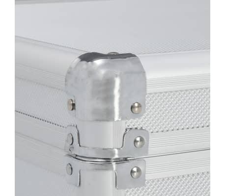 vidaXL ezüstszínű alumínium fegyvertáska 118 x 38 x 12 cm[8/9]