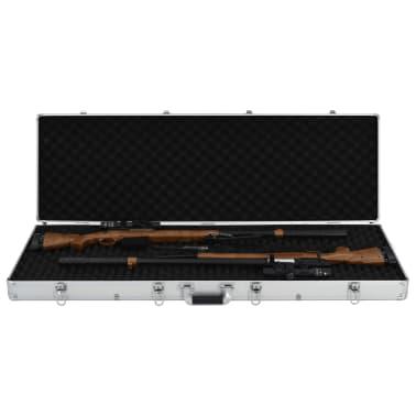 vidaXL ezüstszínű alumínium fegyvertáska 118 x 38 x 12 cm[5/9]