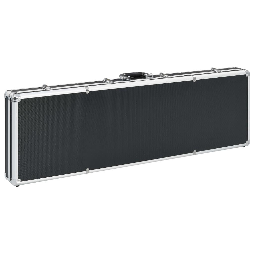 Relvakohver, must, 118 x 38 x 12 cm, alumiinium