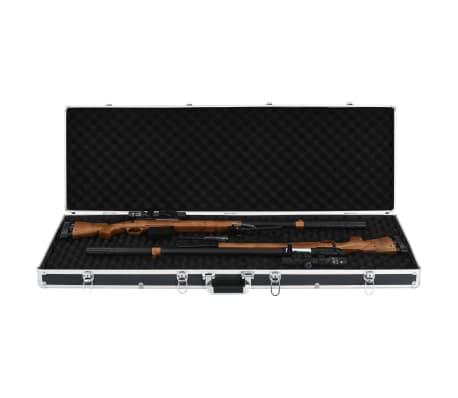 vidaXL fekete alumínium fegyvertáska 118 x 38 x 12 cm[5/9]