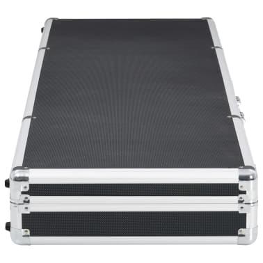 vidaXL fekete alumínium fegyvertáska 118 x 38 x 12 cm[3/9]