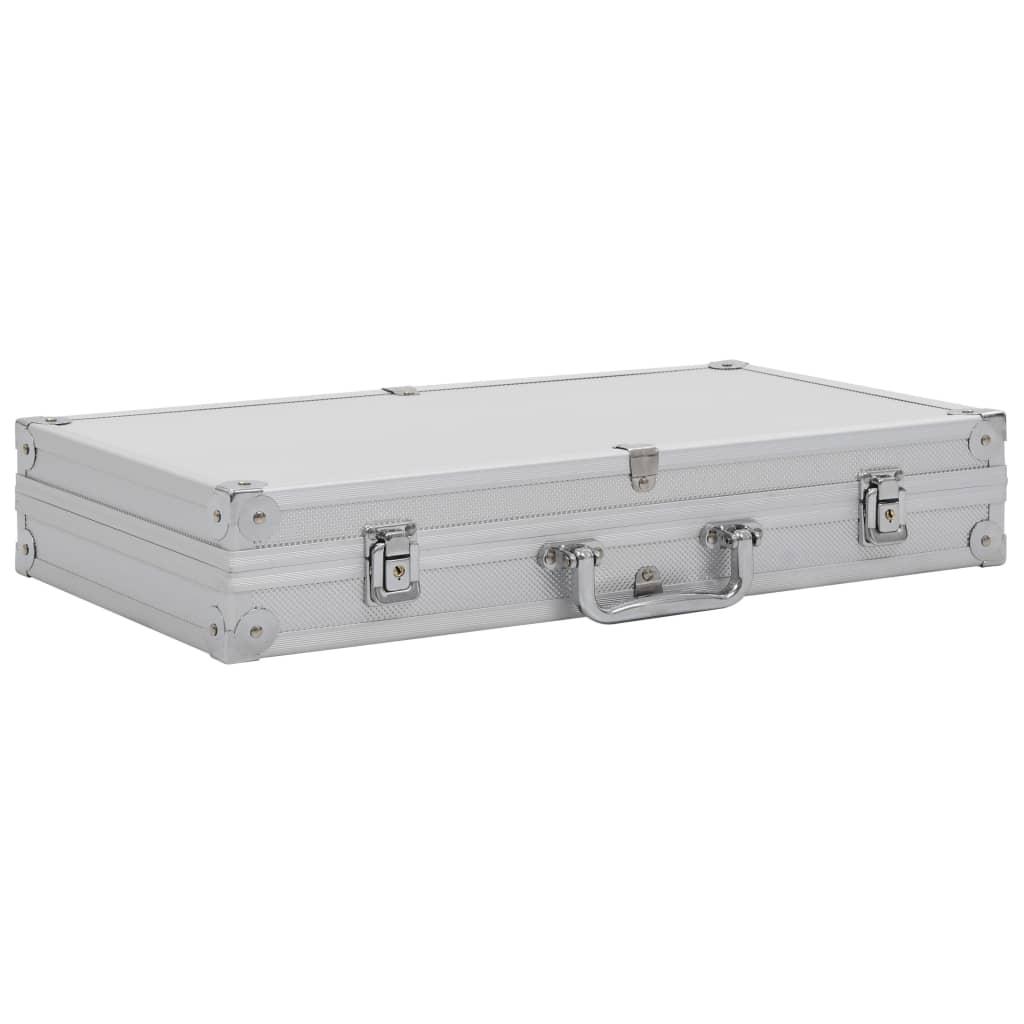 Afbeelding van vidaXL Wapenkoffer aluminium ABS zilverkleurig