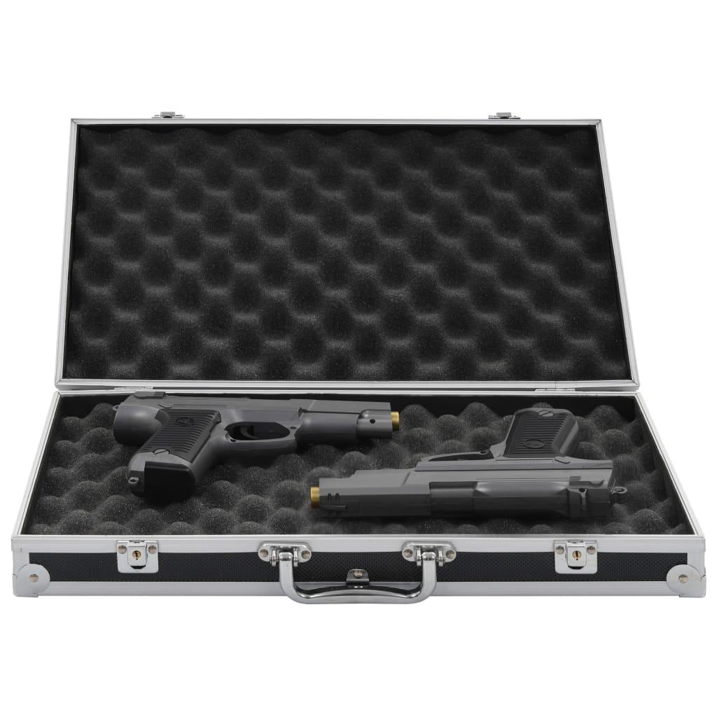 vidaXL Kufr na zbraň hliník ABS černý