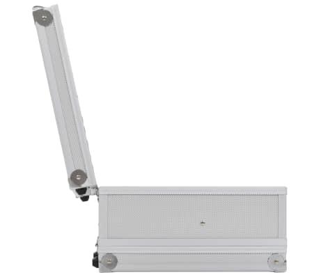 vidaXL Kovček za pištolo aluminij in ABS srebrn[6/8]