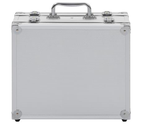 vidaXL Kovček za pištolo aluminij in ABS srebrn[7/8]