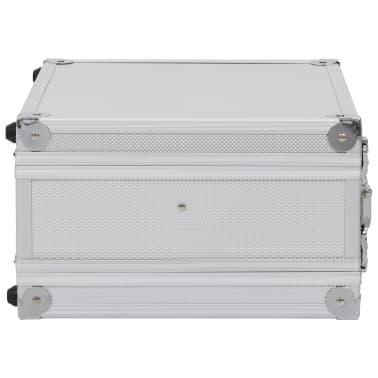 vidaXL Kovček za pištolo aluminij in ABS srebrn[4/8]