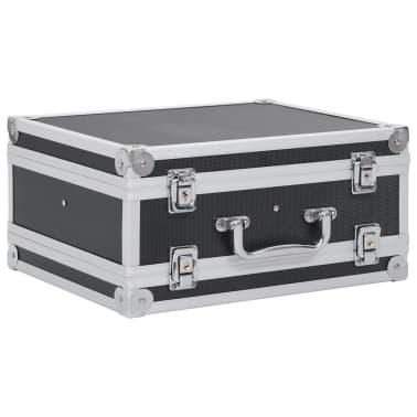 vidaXL Kovček za pištolo aluminij in ABS črn[2/8]