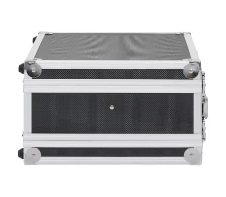 vidaXL Kovček za pištolo aluminij in ABS črn[4/8]
