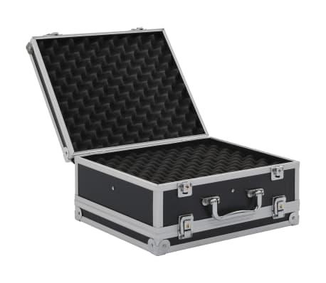 vidaXL Kovček za pištolo aluminij in ABS črn[5/8]