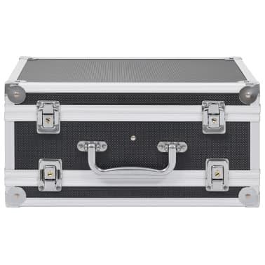 vidaXL Kovček za pištolo aluminij in ABS črn[3/8]