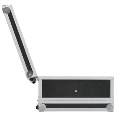 vidaXL Kovček za pištolo aluminij in ABS črn[6/8]