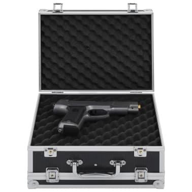 vidaXL Kovček za pištolo aluminij in ABS črn[1/8]