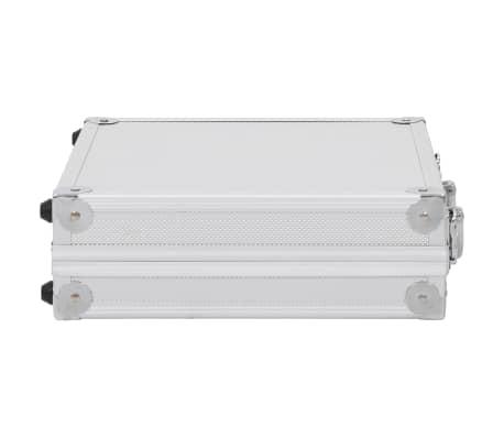 vidaXL Kovček za pištolo aluminij in ABS srebrn[4/7]