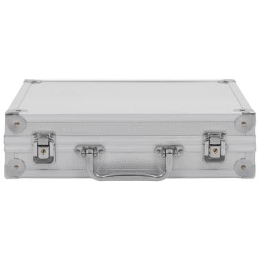 vidaXL Kovček za pištolo aluminij in ABS srebrn[3/7]