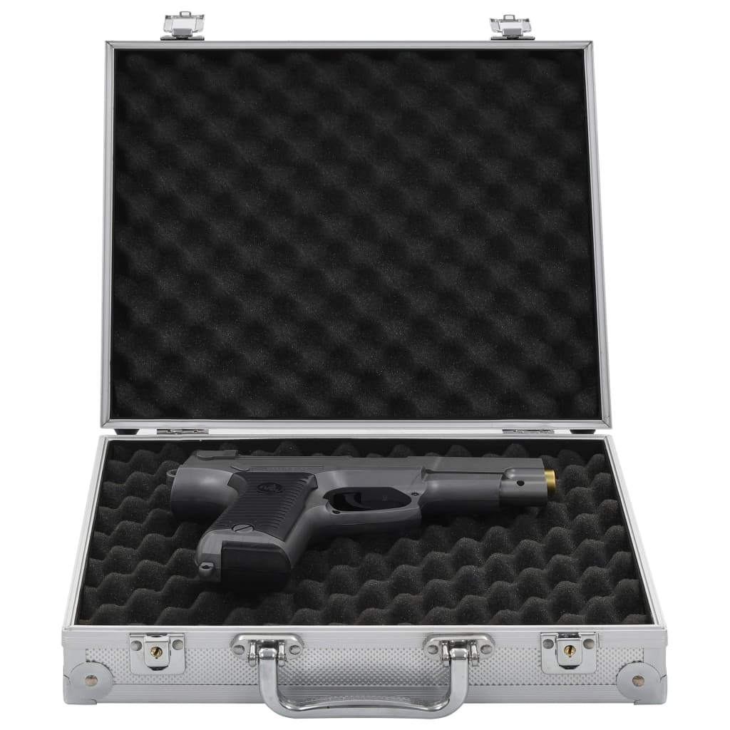 vidaXL Valiză pentru armă, argintiu, aluminiu ABS imagine vidaxl.ro