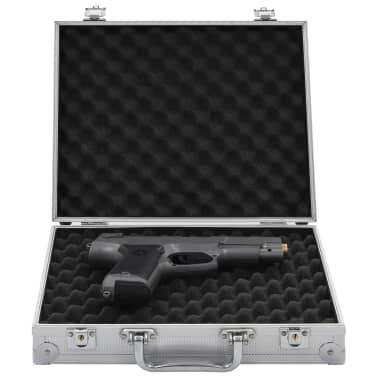 vidaXL Kovček za pištolo aluminij in ABS srebrn[1/7]