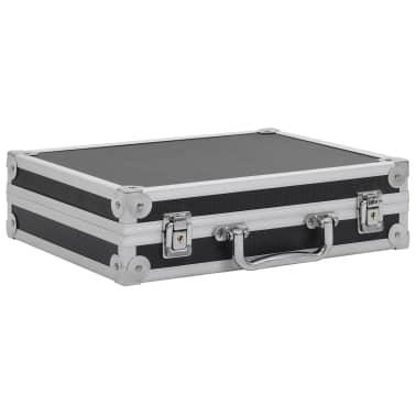 vidaXL Kovček za pištolo aluminij in ABS črn[2/7]