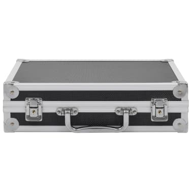 vidaXL Kovček za pištolo aluminij in ABS črn[3/7]