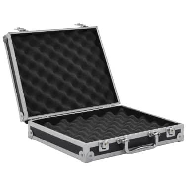 vidaXL Kovček za pištolo aluminij in ABS črn[5/7]