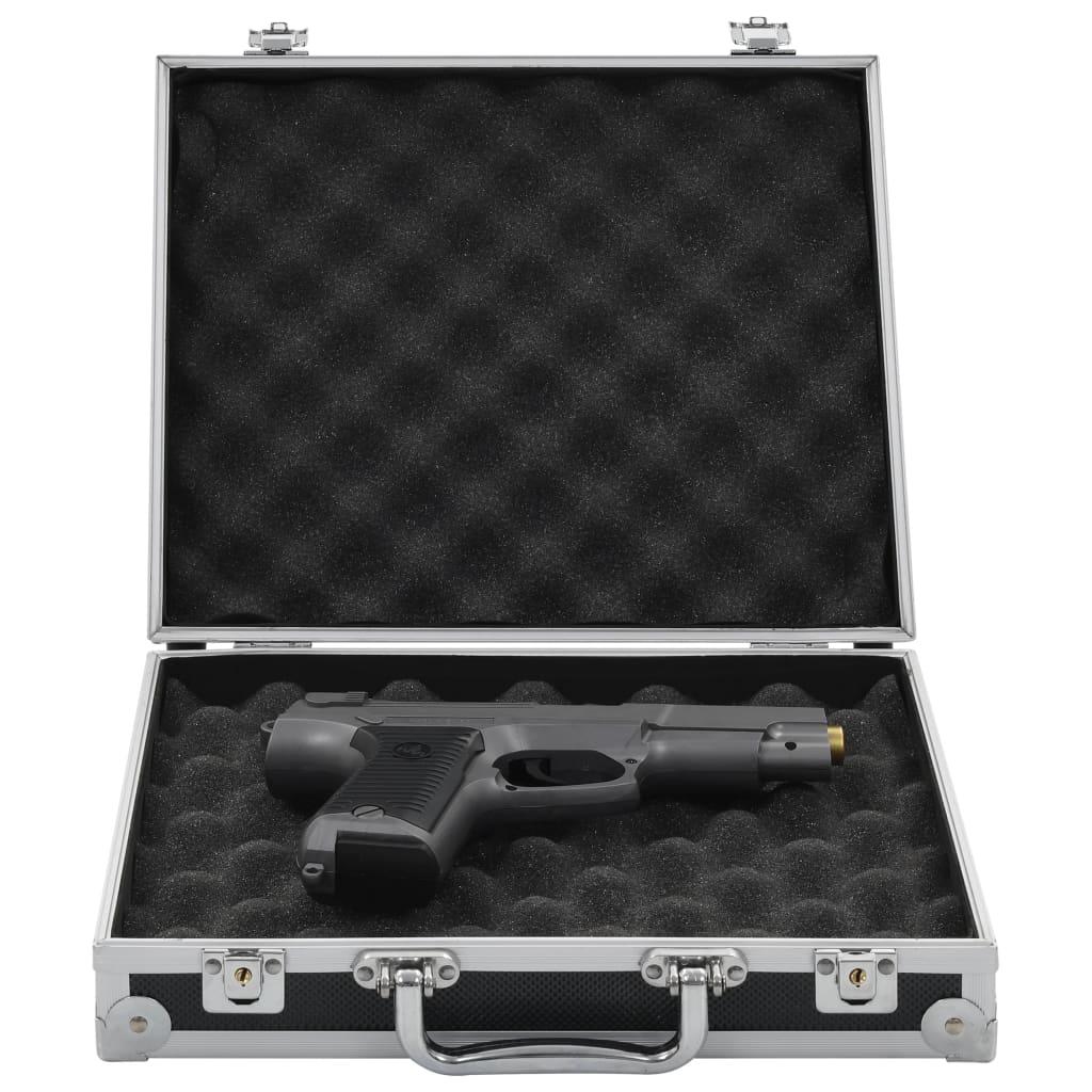 vidaXL Valiză pentru armă, negru, aluminiu ABS poza vidaxl.ro
