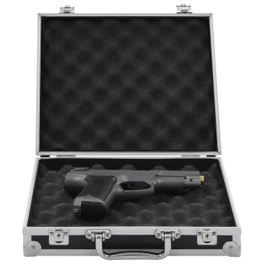 vidaXL Kovček za pištolo aluminij in ABS črn[1/7]