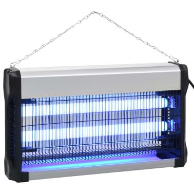 vidaXL Insekticidinė lempa, juodos sp., aliuminis, ABS, 30W[2/10]