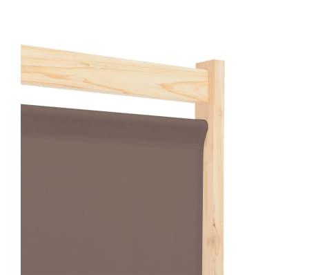 vidaXL Kambario pertvara, 4 d., rudos sp., 160x170x4cm, audinys[6/8]