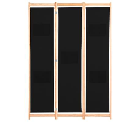 vidaXL Kambario pertvara, 3 d., juodos sp., 120x170x4cm, audinys[2/8]