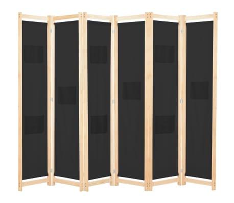 vidaXL Paravan de cameră cu 6 panouri, 240x170 x4 cm, material textil