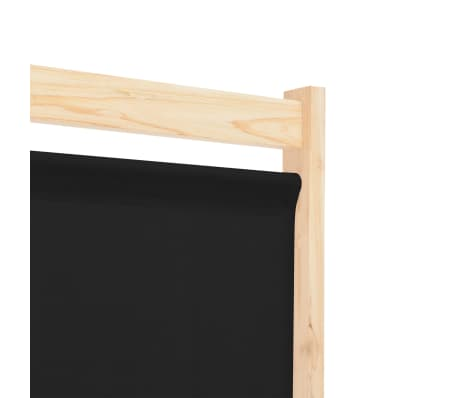 vidaXL 6-teiliger Raumteiler Schwarz 240 x 170 x 4 cm Stoff[6/8]