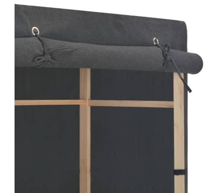 vidaXL 3-Tier Wardrobe Grey 110x40x170 cm Fabric[4/6]