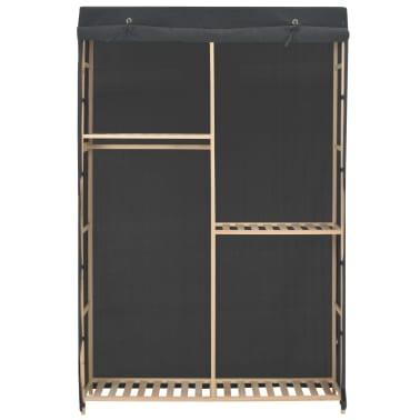 vidaXL 3-Tier Wardrobe Grey 110x40x170 cm Fabric[2/6]