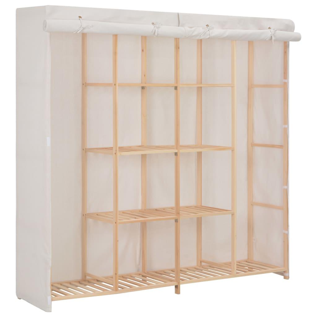 vidaXL Szafa, biała, 173x40x170 cm, materiałowa