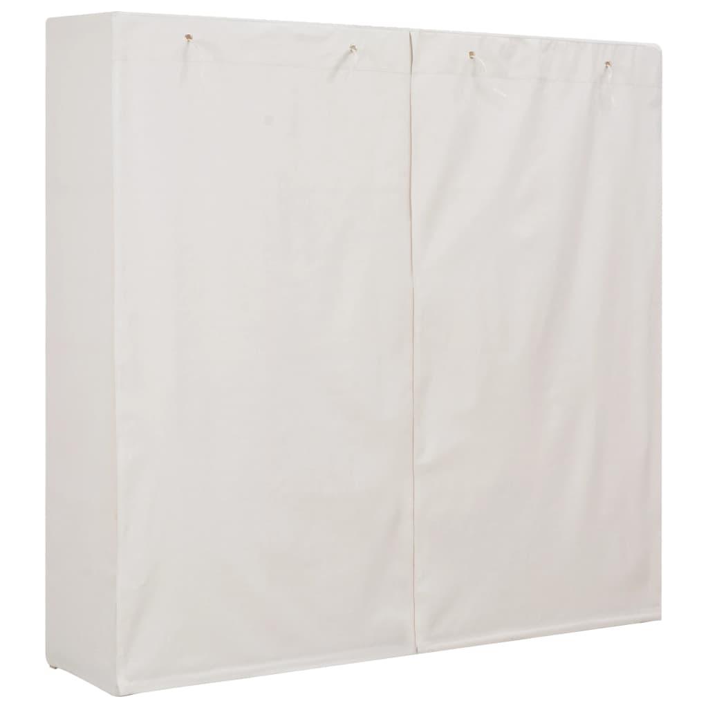 Garderoob, valge, 173 x 40 x 170 cm, kangas