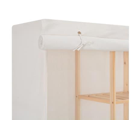 vidaXL Šatník biely 173x40x170 cm látkový[5/6]