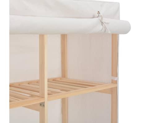 vidaXL Garde-robe Blanc 200 x 40 x 170 cm Tissu[5/6]