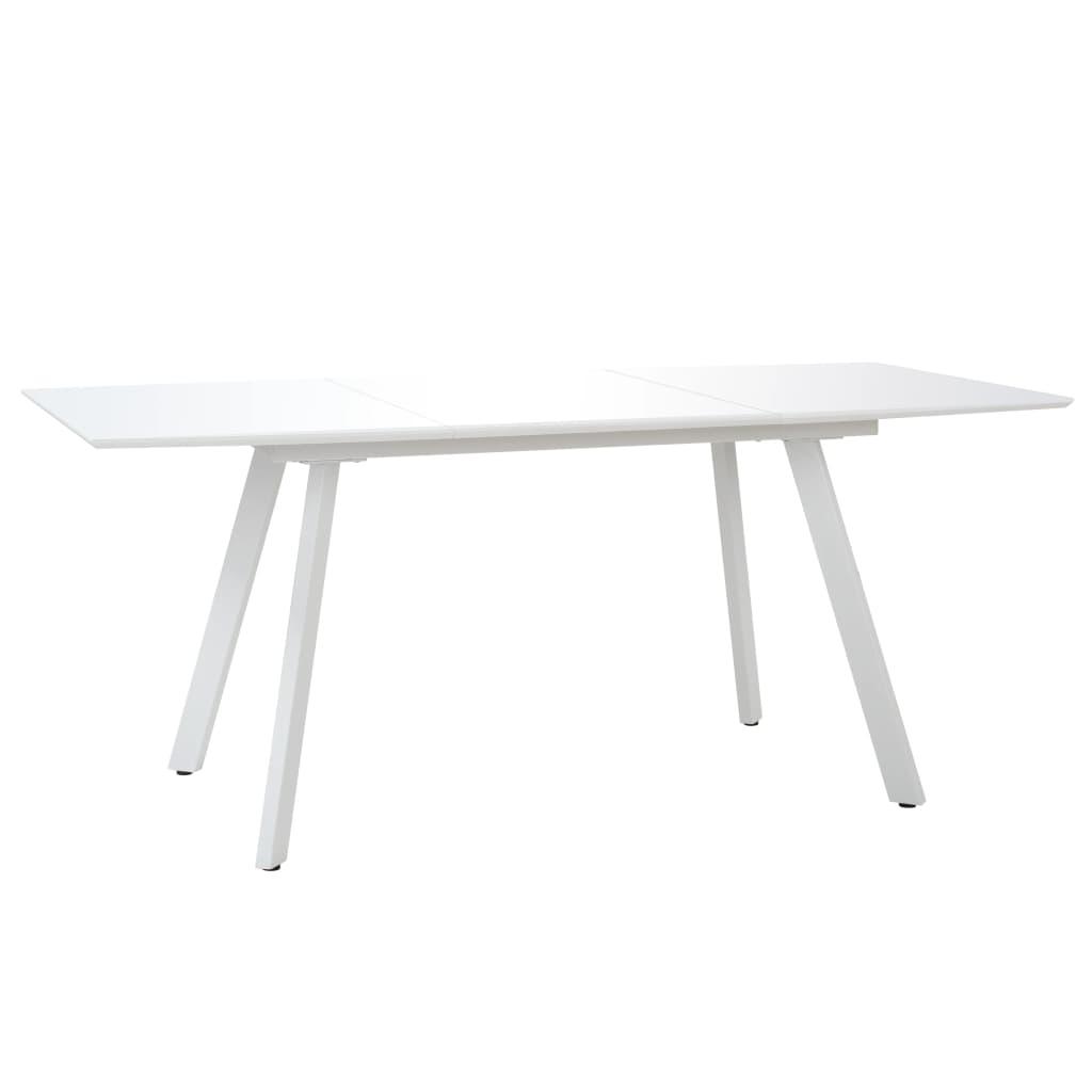 vidaXL Stół jadalniany, wysoki połysk, biały, 180x90x76 cm, MDF